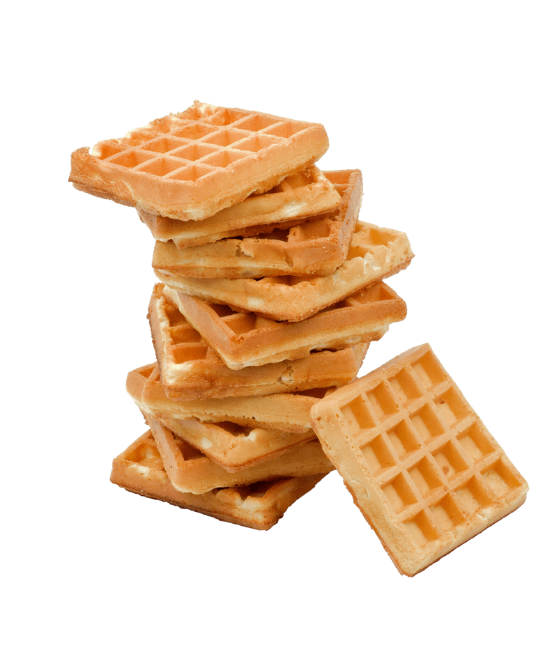 Stack of waffles transparent. Waffle clipart sticky bun