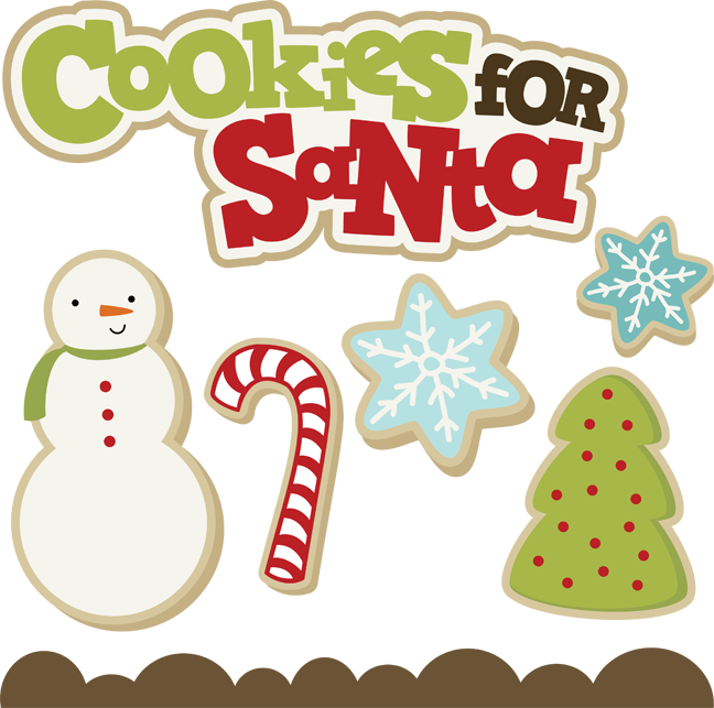 For santa svg . Cookies clipart file