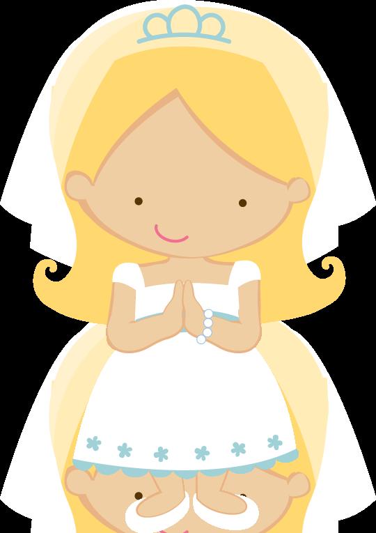 Folder clipart cute. Zwd rosary communion girl