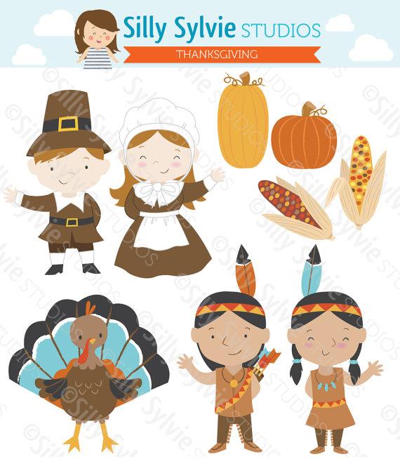 Thanksgiving clip art pilgrims. Mayflower clipart native american