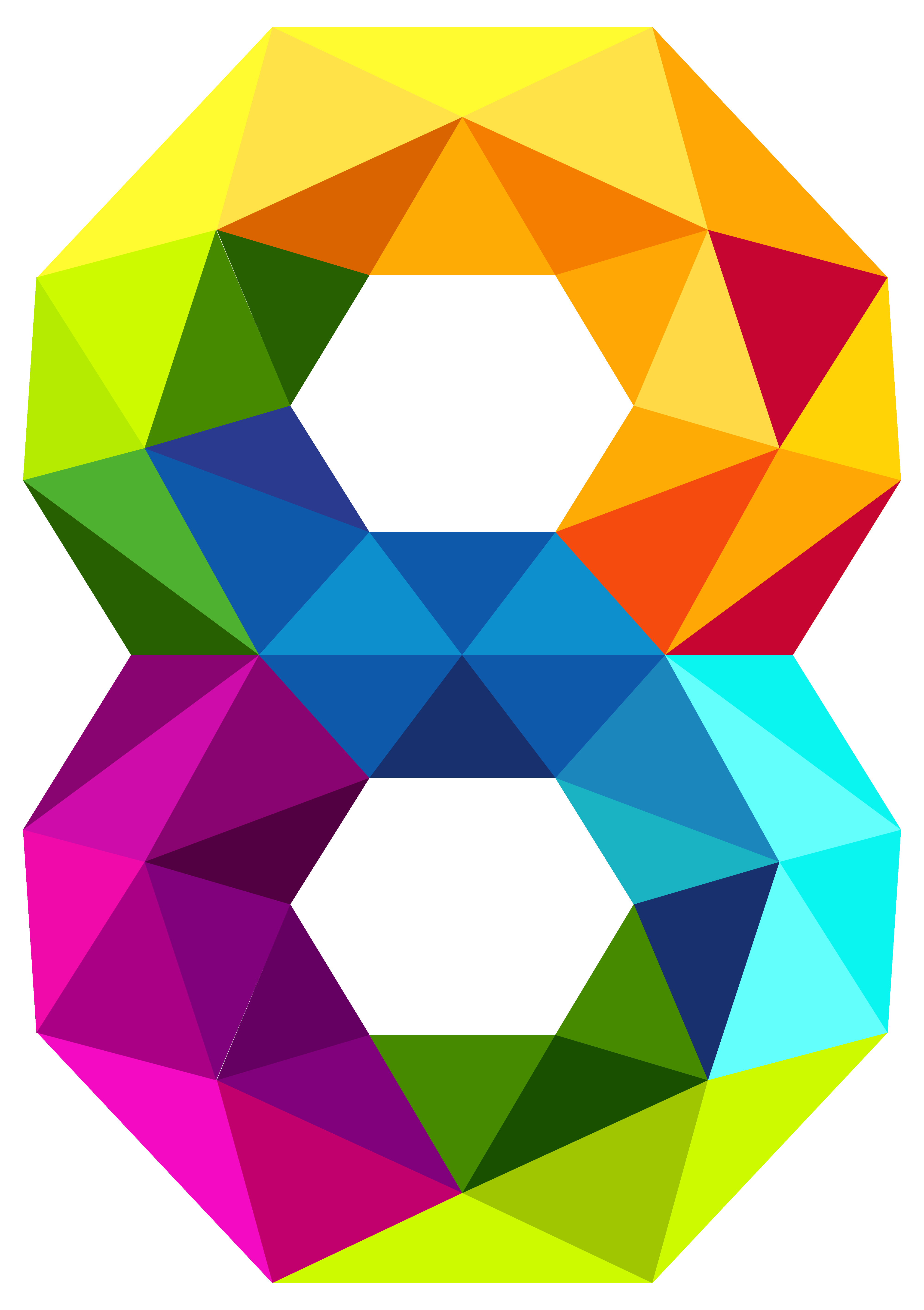 Triangles number eight png. 7 clipart colourful