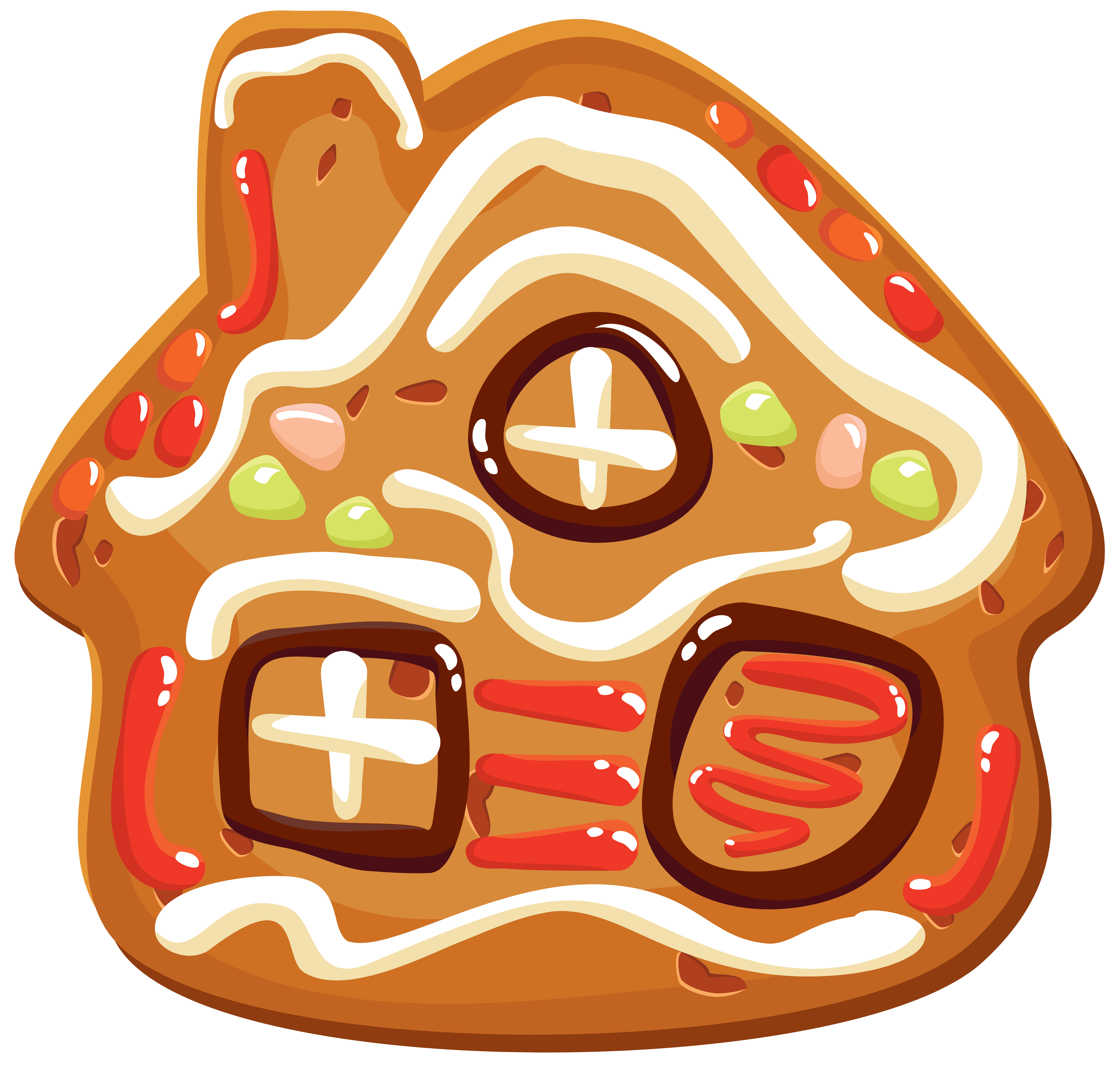 Christmas house png image. Clipart easter cookie