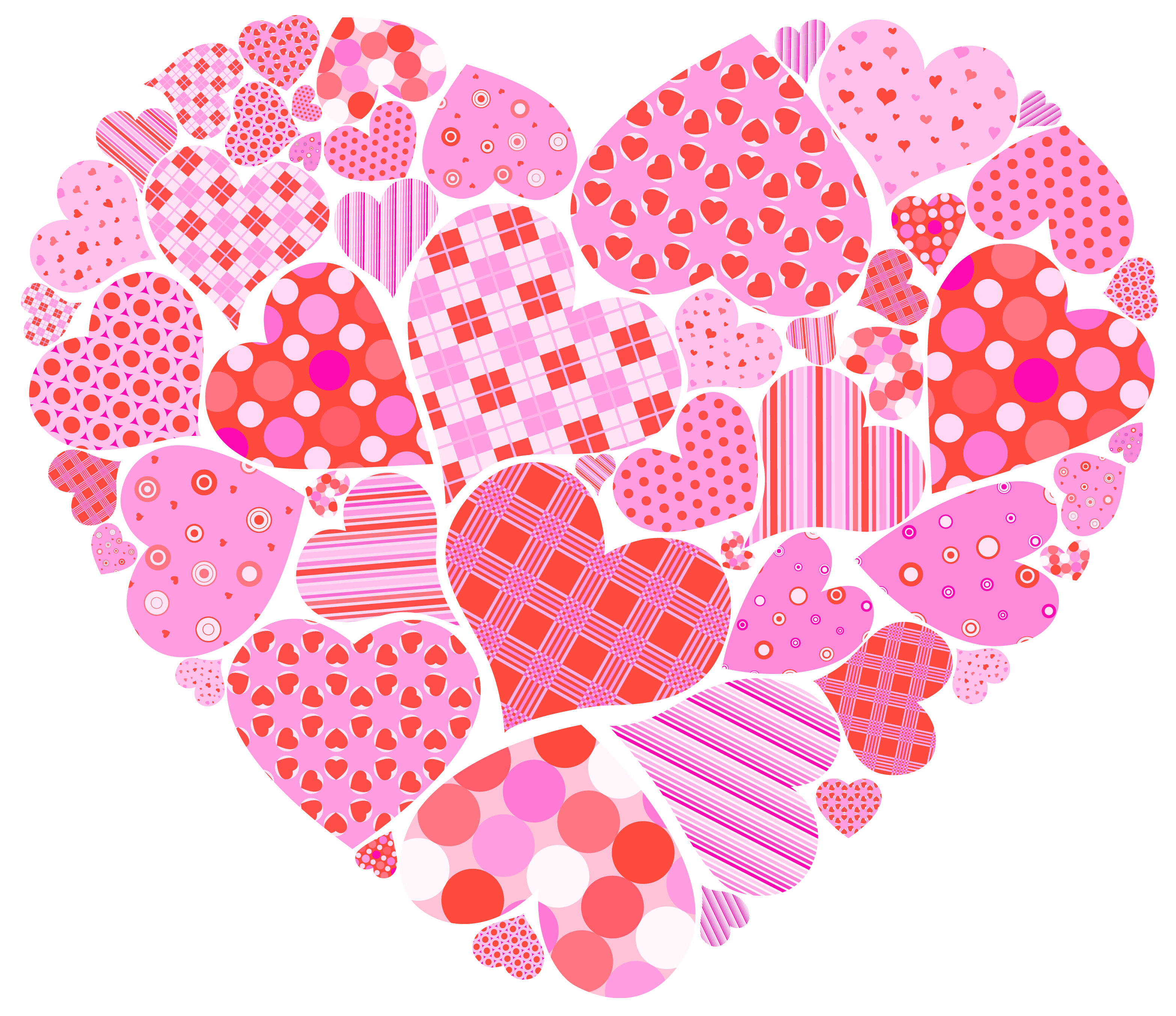 Hearts clipart ladybug. Valentines day heart of