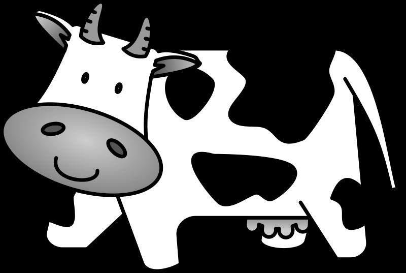 Cute clipartblack com animal. Cow clipart black and white