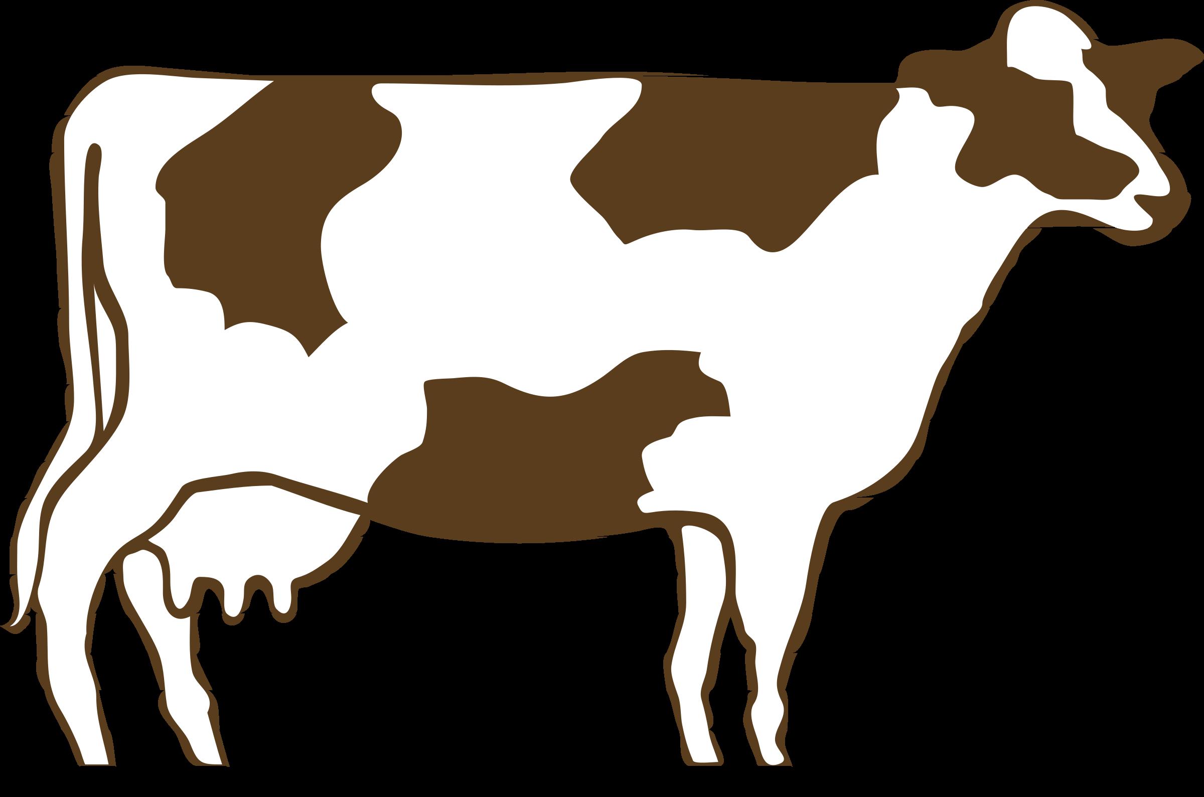 Architetto vacca pezzata rossa. Clipart cow back