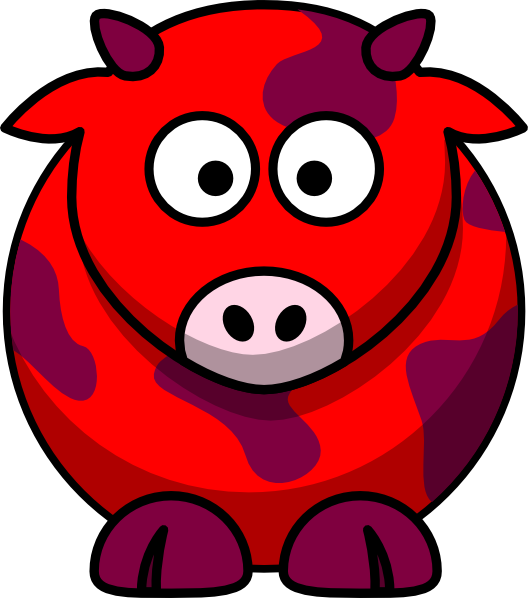 Clipart cow back. Red clip art at