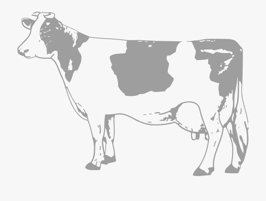 Svg milk transparent black. Cow clipart logo