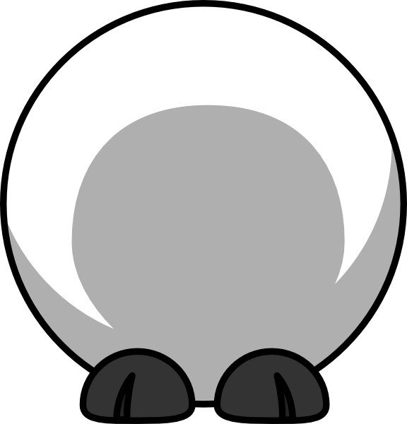 Clipart duck body. Sheep clip art at