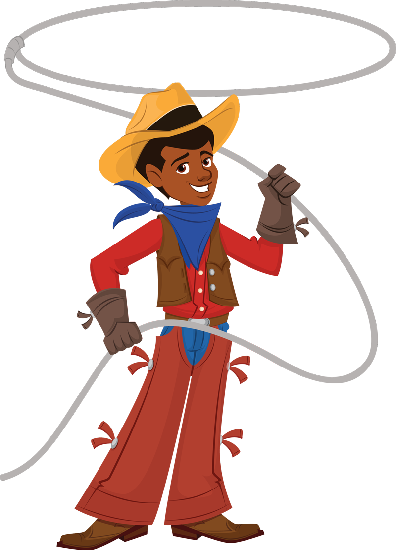Of a cowboy at. Clipart cow boy