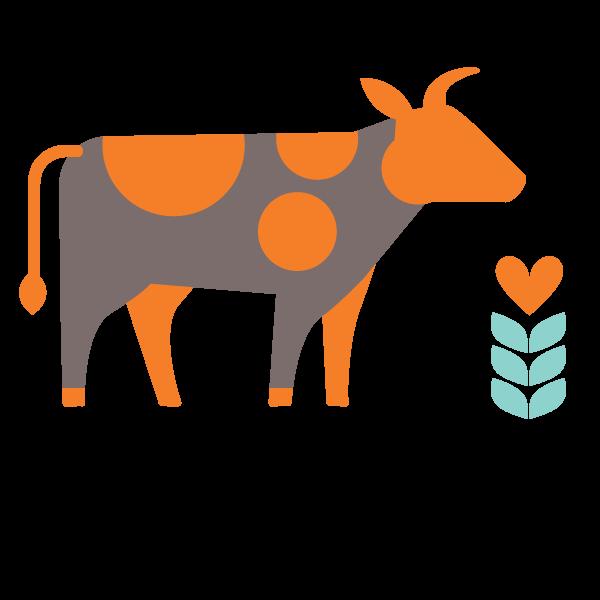 Cow clipart branding. Bulk beef variety pack