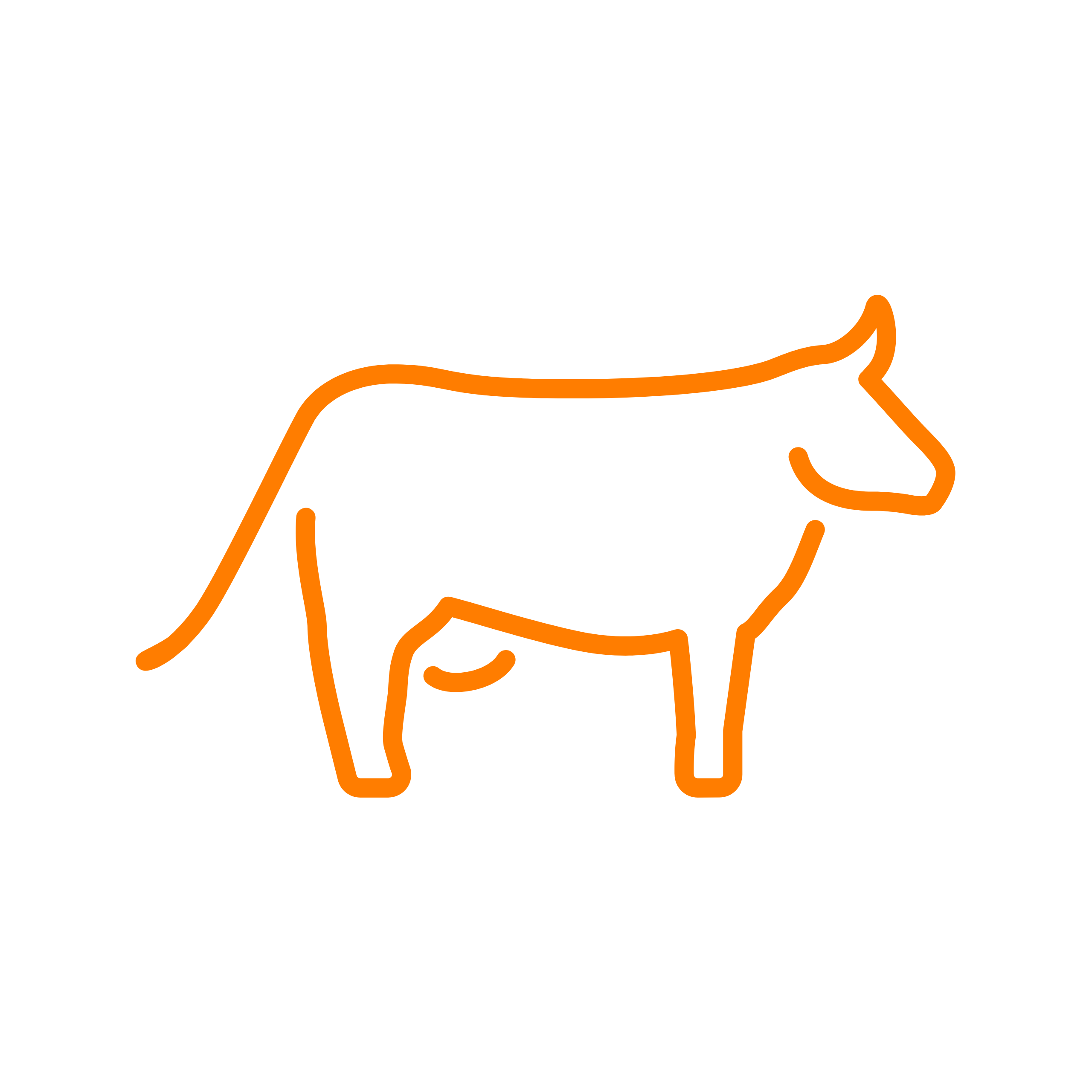 Cow clipart branding. Orange cattle is a