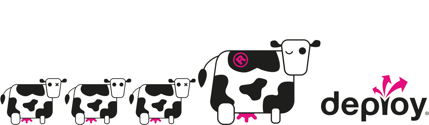 Deploy your brand home. Cow clipart branding