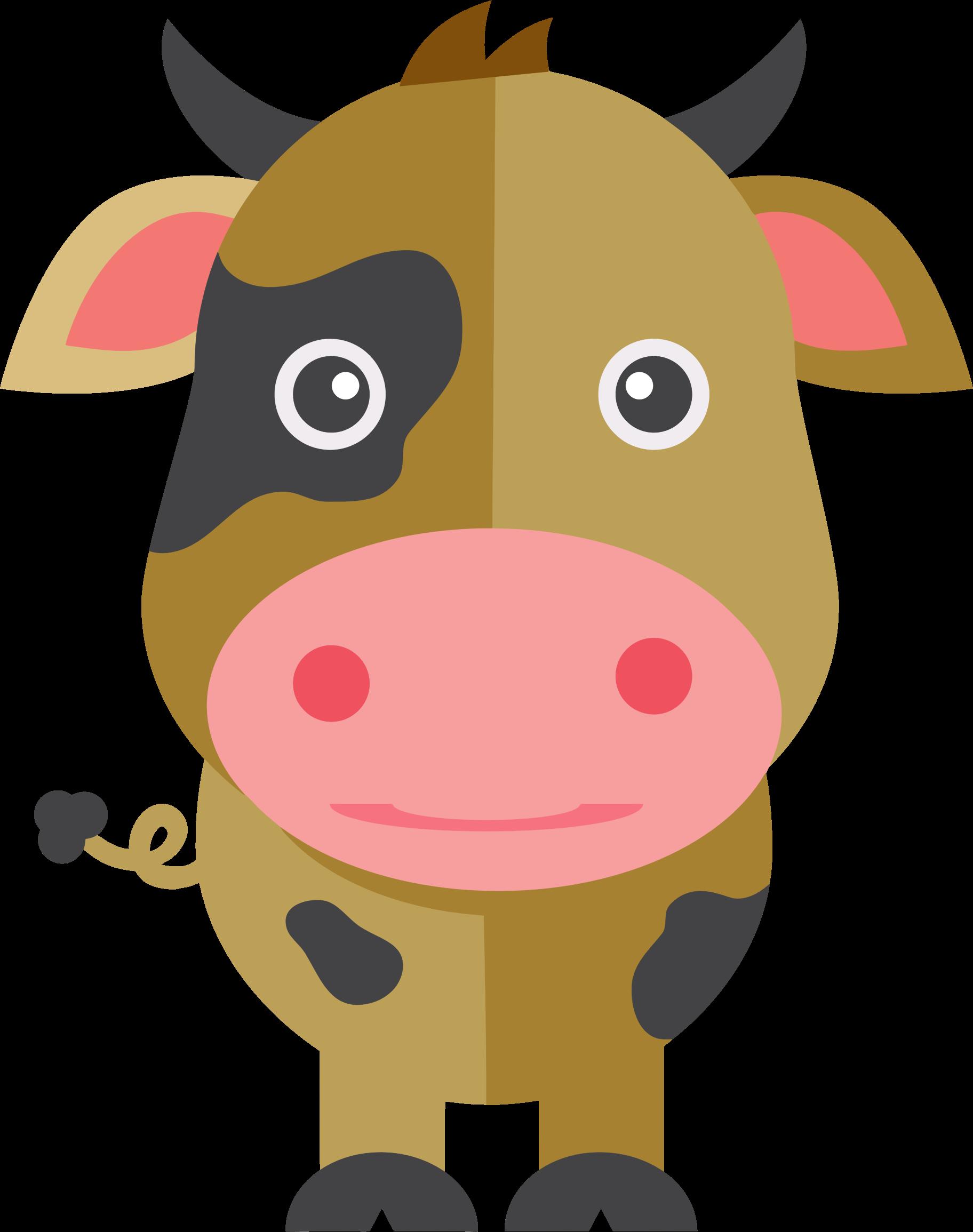 Cute big image png. Clipart cow cartoon