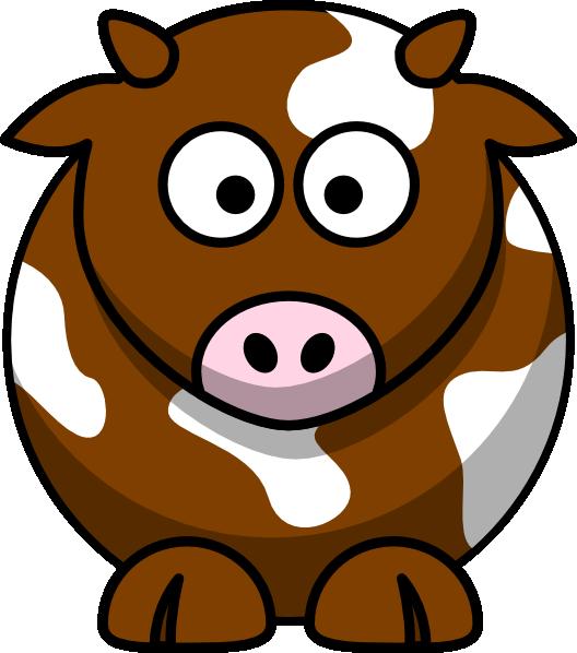 Clipart cow cartoon. Brown patch clip art