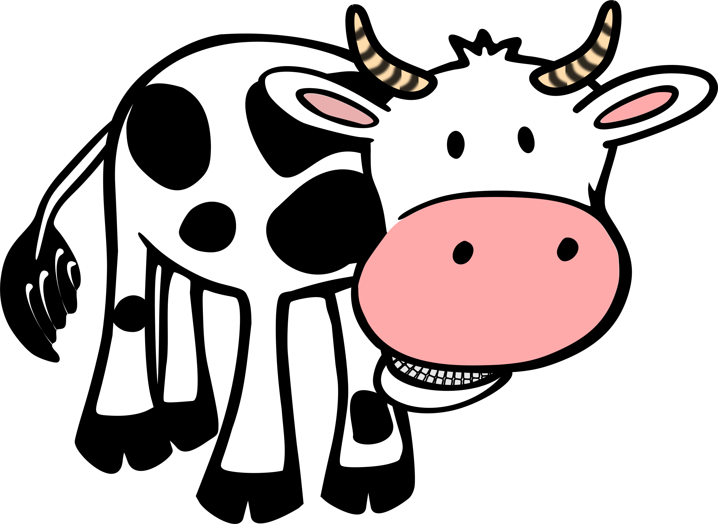 Clipart cow cartoon. Chewing big image png