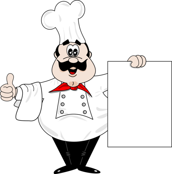 Luncheon clipart community. Chef with blank sign