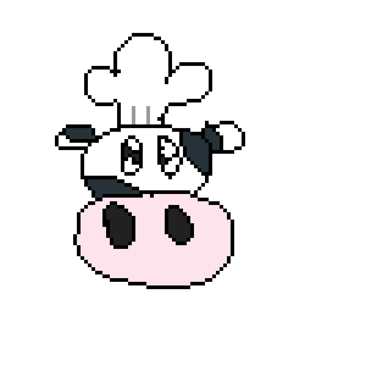 Pixilart by vballlover. Cow clipart chef