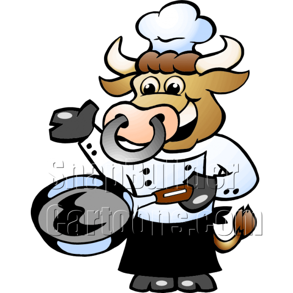Cow clipart chef.