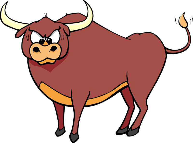 Bull cartoon clip art. Ox clipart cattle