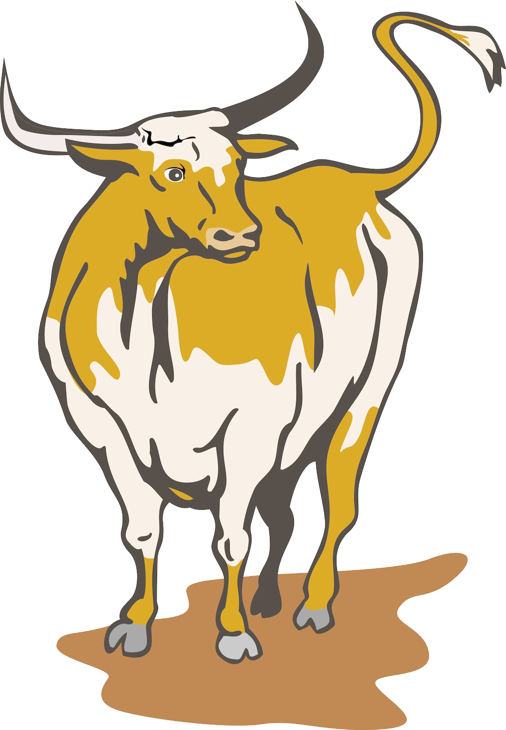 Ox clipart longhorn. Texas english royalty free
