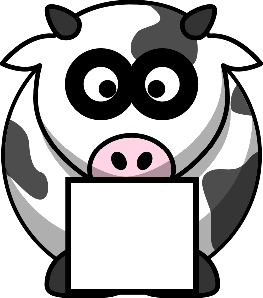 With box clip art. Picture clipart cow