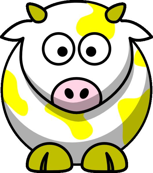 Yellow cow clip art. Ox clipart vector