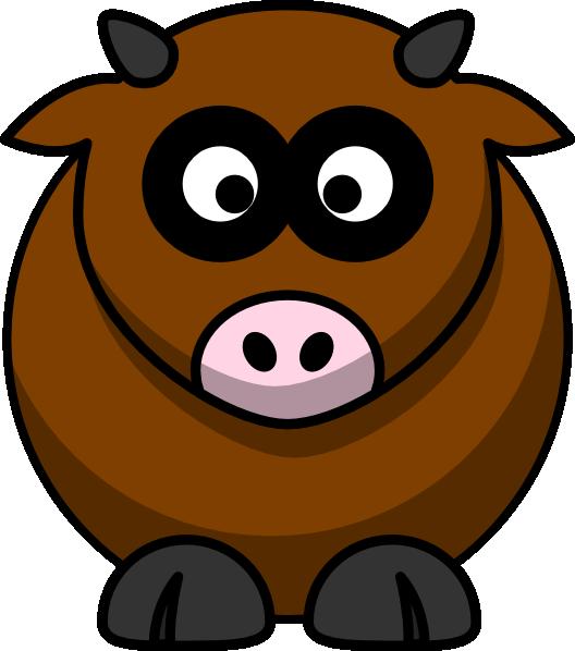 Cow clipart cartoon. Brown clip art at