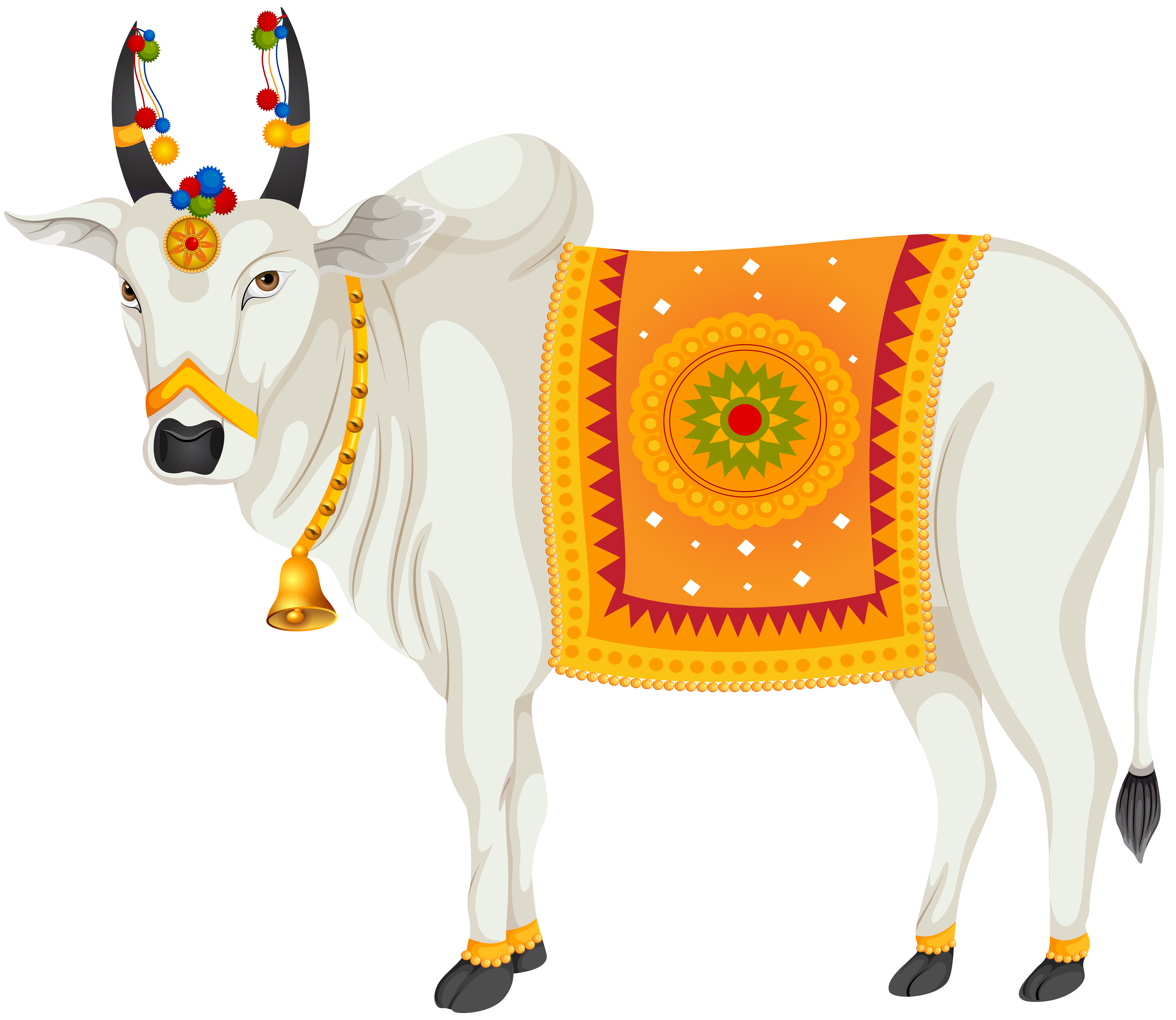 India holy transparent clip. Cow clipart cow indian