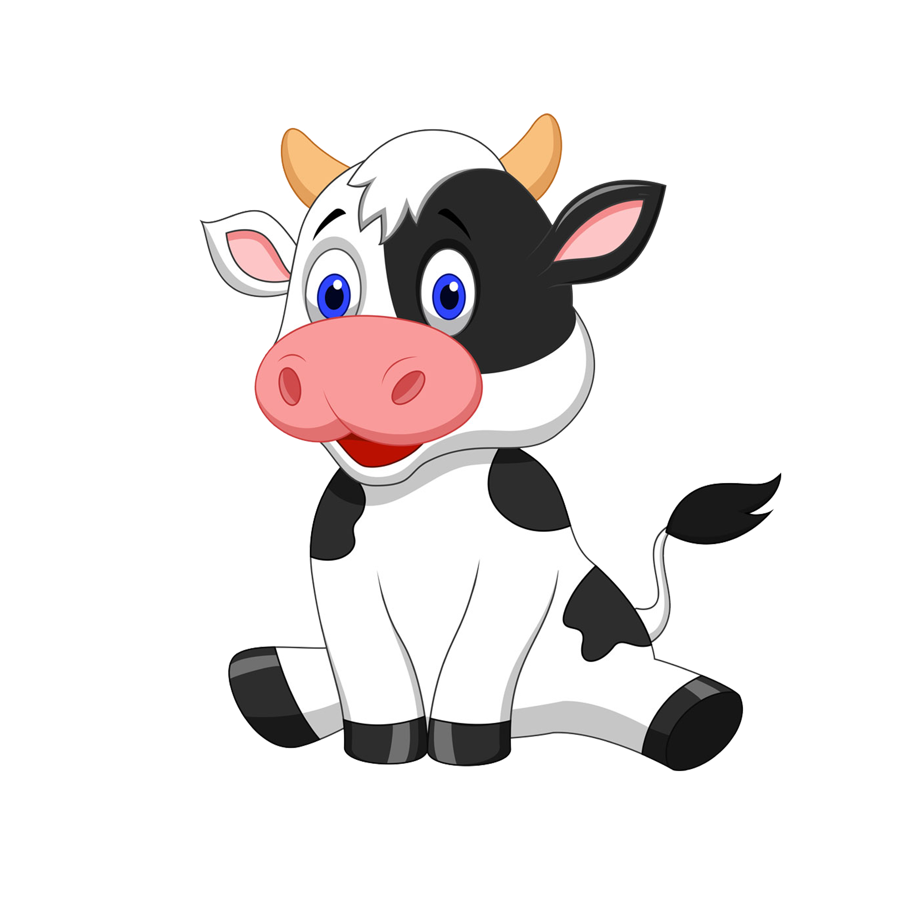Cattle cartoon stock photography. Cows clipart dairy cow