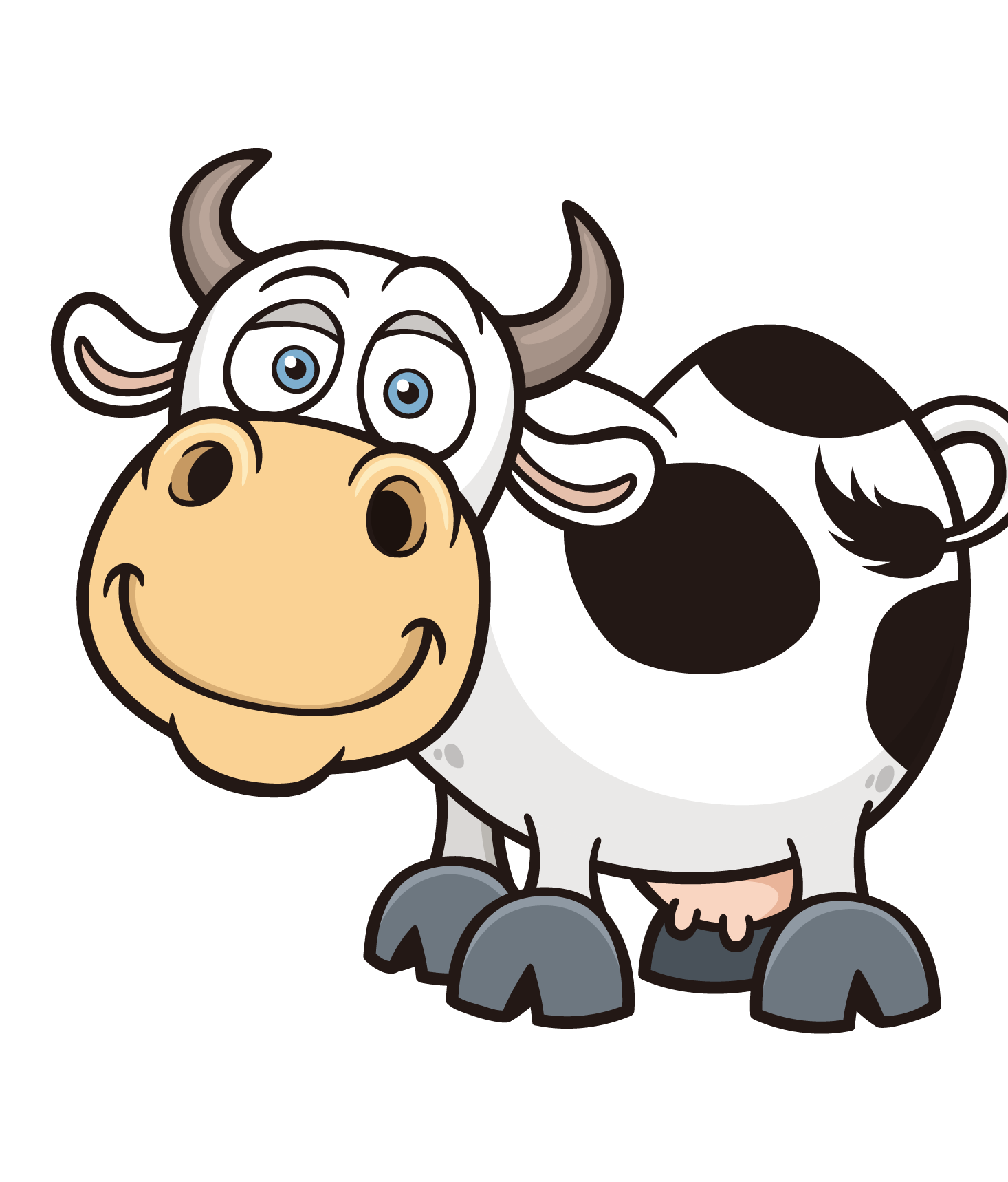 Cows clipart animal. Cattle cartoon royalty free