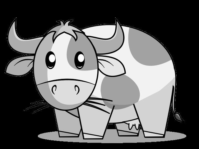 Cow clipart cute. Clipartblack com animal free