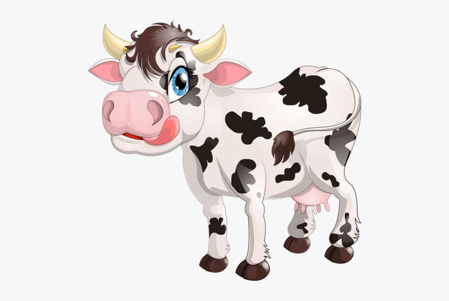 Cow milk transparent cartoon. Dairy clipart animated