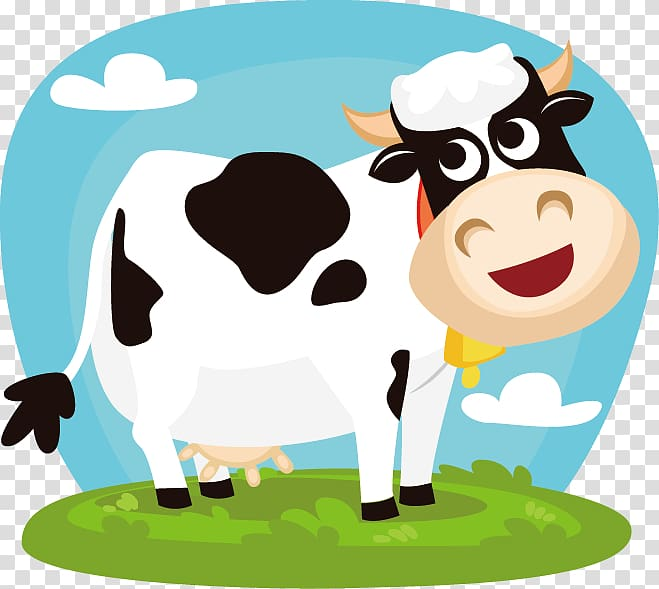 Dairy clipart cows milk. White and black cow