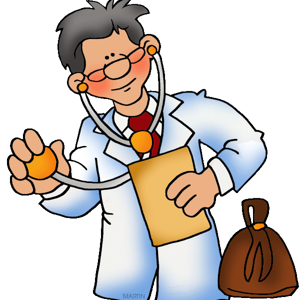 Picture of a female. Doctor clipart cow