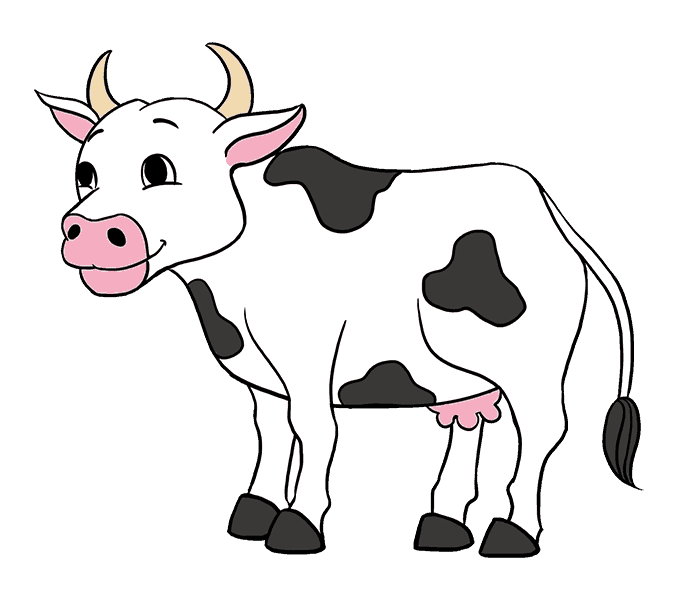 Cartoon picture group how. Cow clipart colored