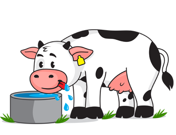 Clipart cow drinking. Thirsty animal cliparts free