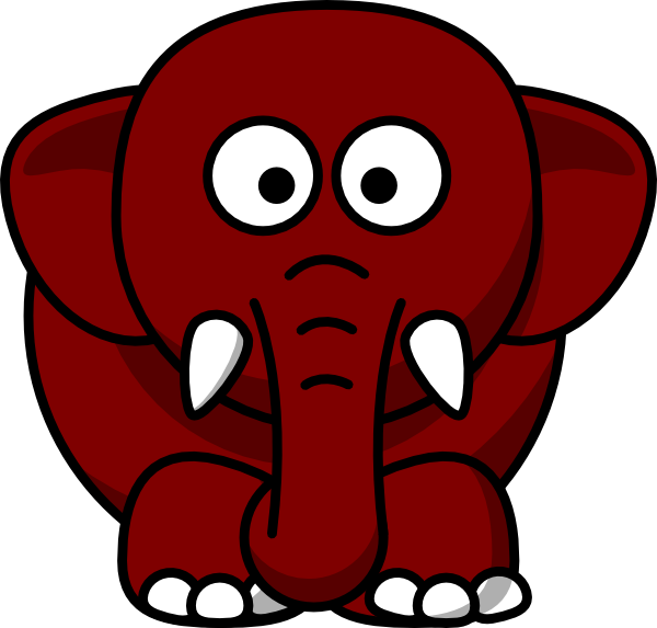 Brown clip art at. Elephant clipart mint