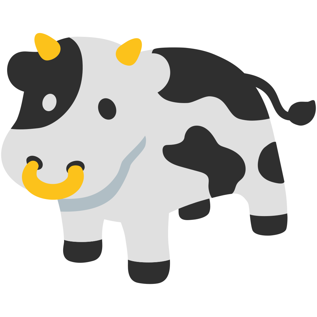 . Clipart cow face
