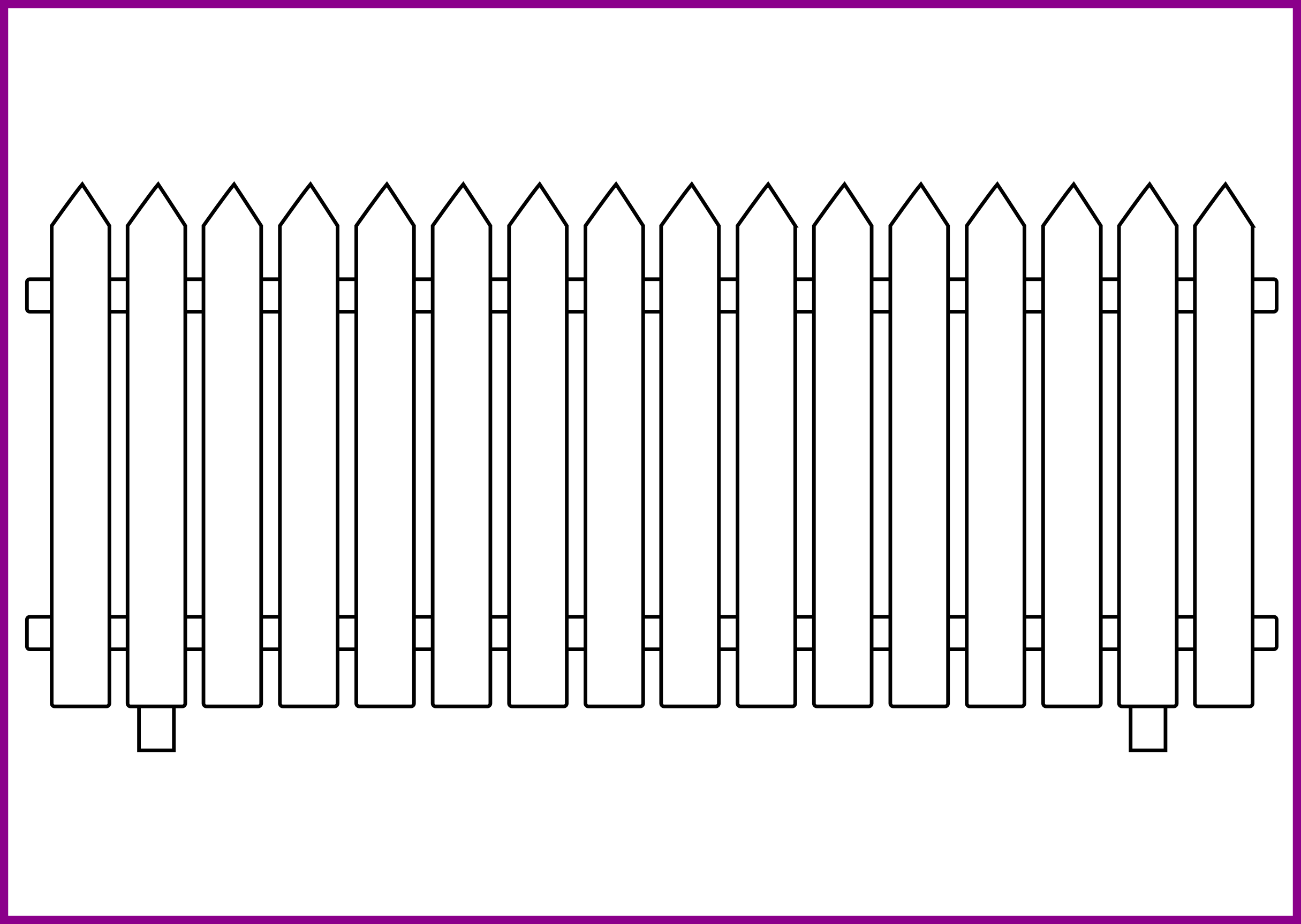 Farm Fence Drawing Fence Design Picket Drawings Incredible Farm