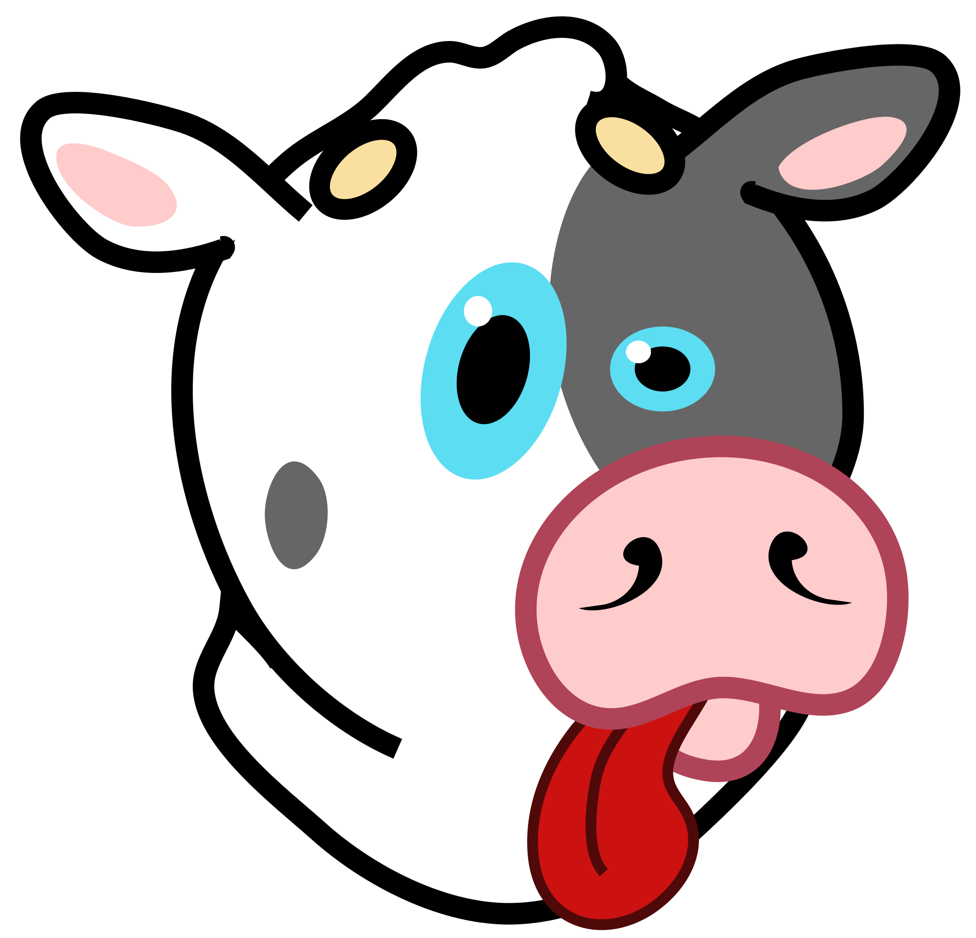 Cows clipart nose. File cow icon svg