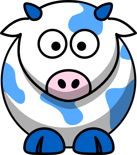 Blue cow clip art. Ox clipart cartoon