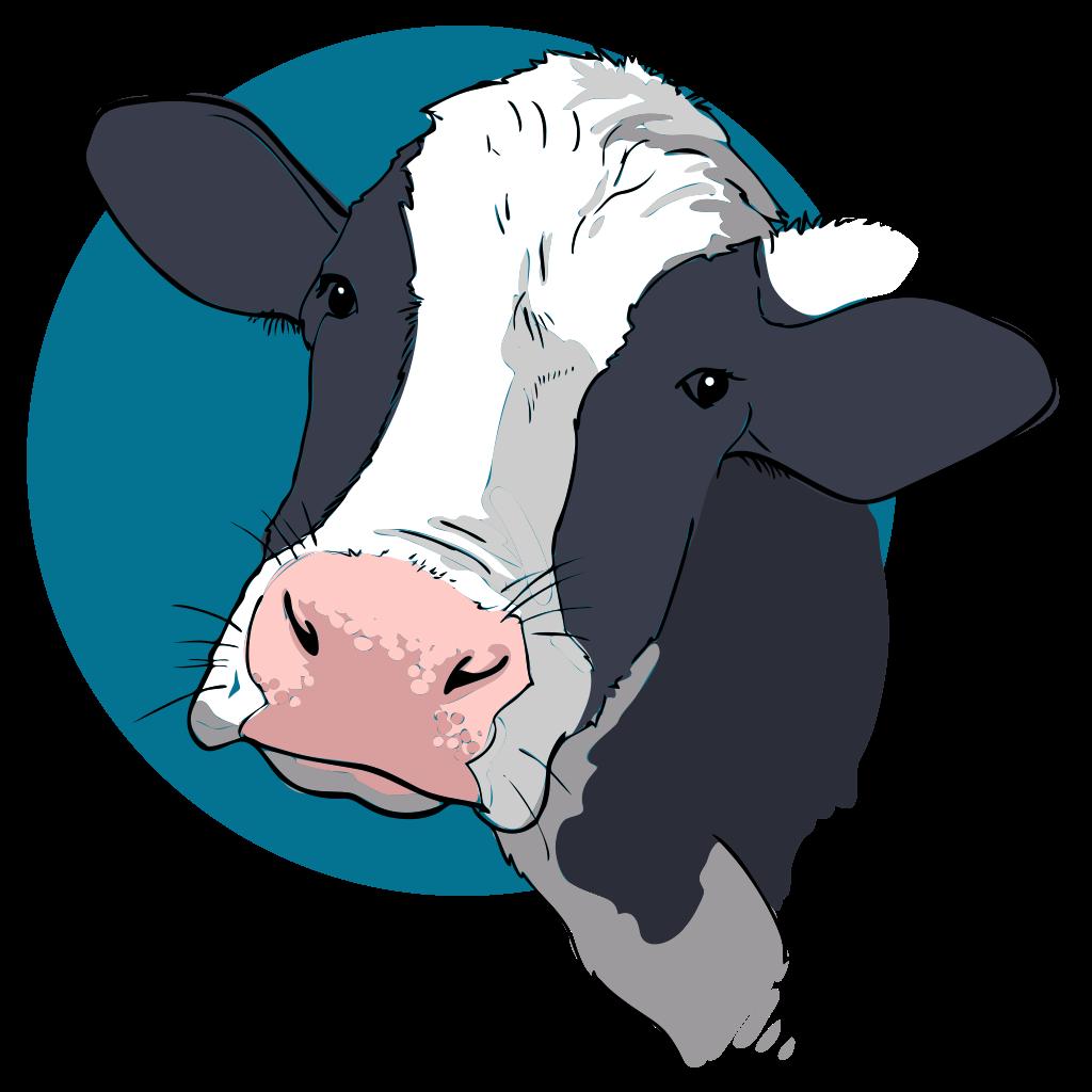 Cows clipart file. Cow closeup svg wikimedia