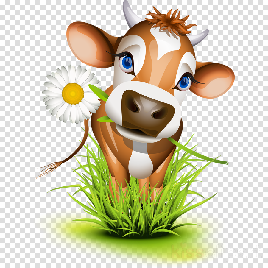 Clipart cow flower. Cartoon mouse illustration