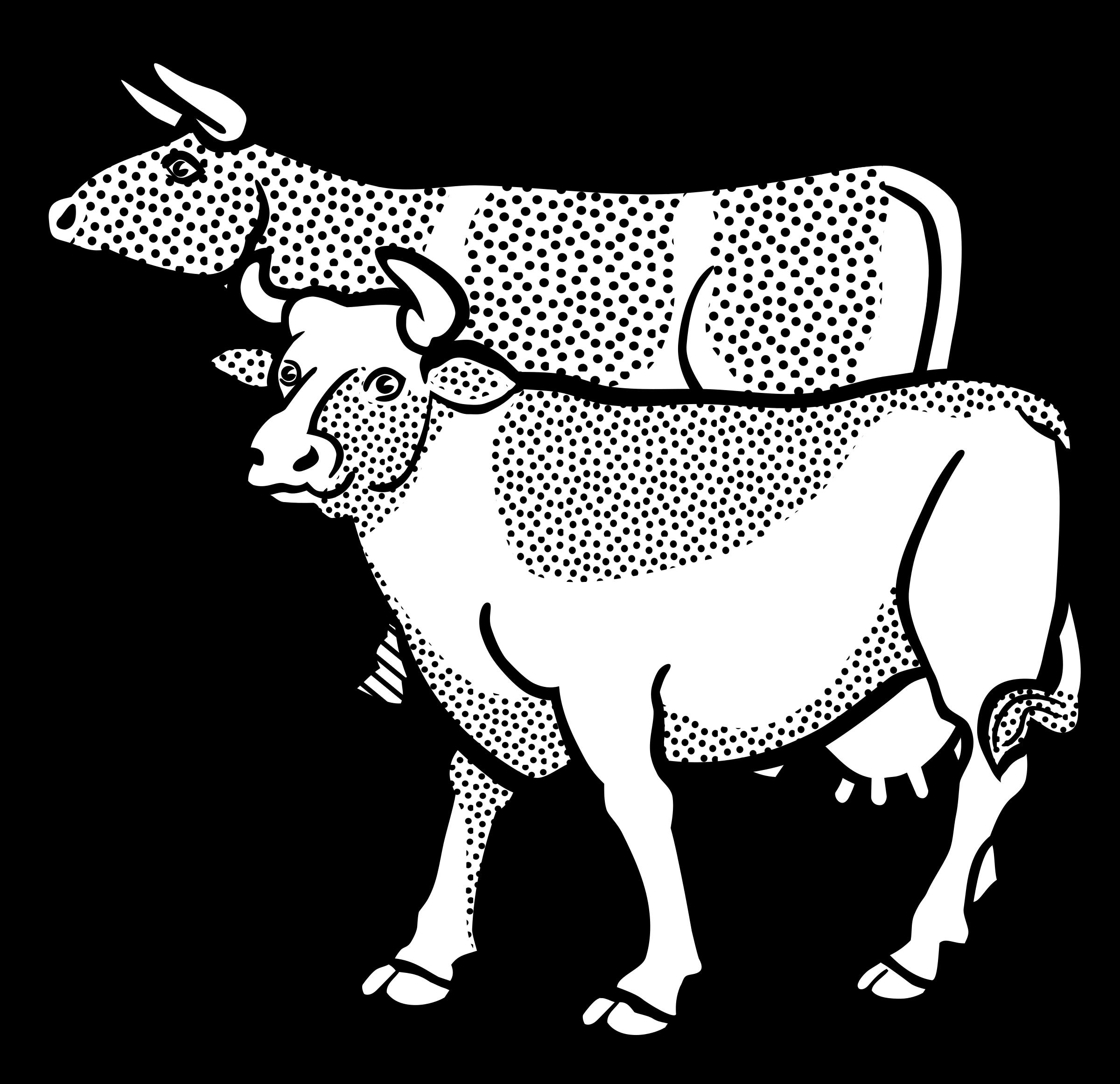 Cows clipart gambar. Lineart big image png