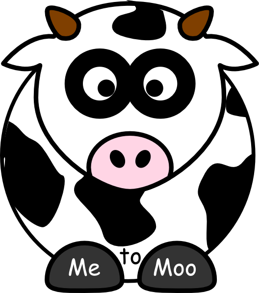 Cow clipart gambar. Me to moo clip