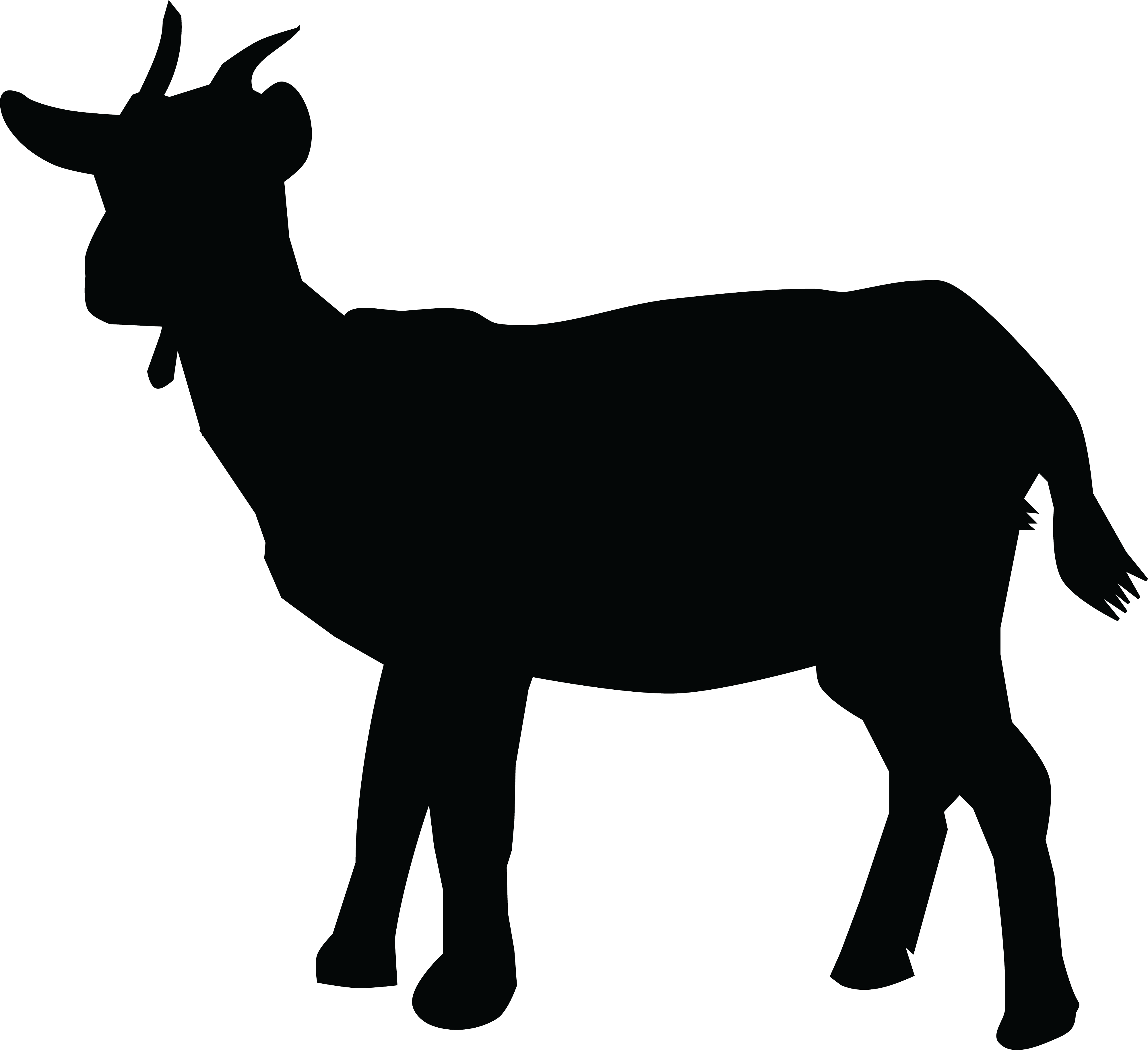 Dairy goat at getdrawings. Mailbox clipart silhouette