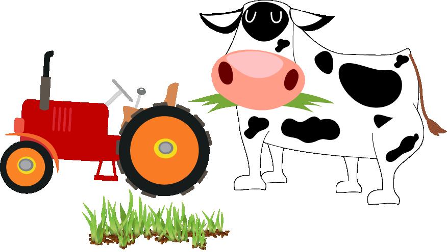 Cartoon cattle agriculture clip. Farm clipart dairy farm