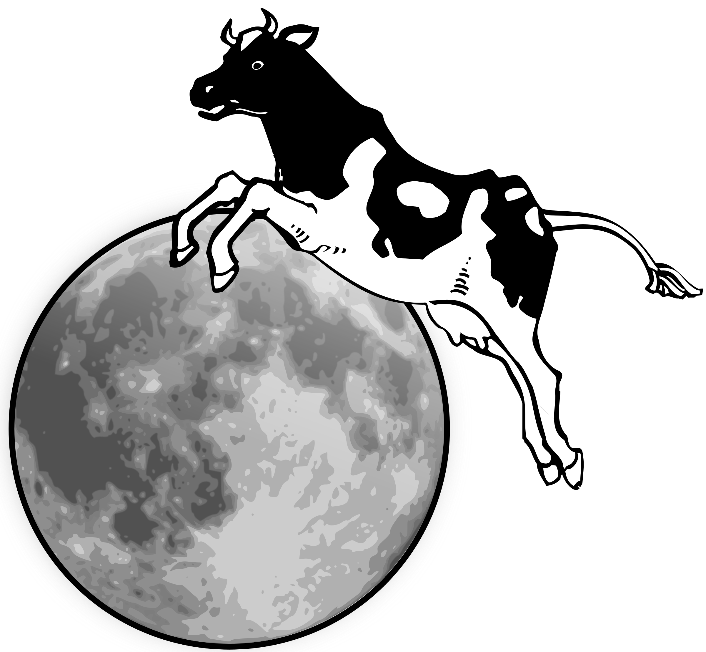 The cliparts shop of. Clipart moon scary