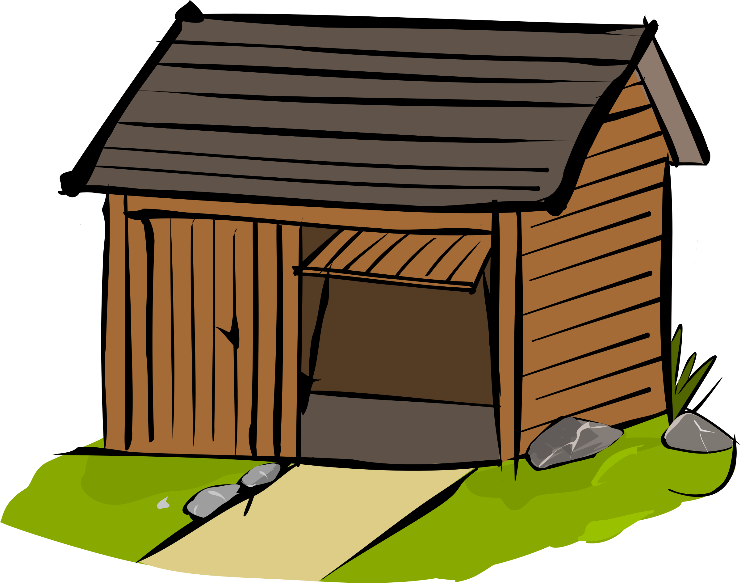 Clipart house garage. Shed storage building free