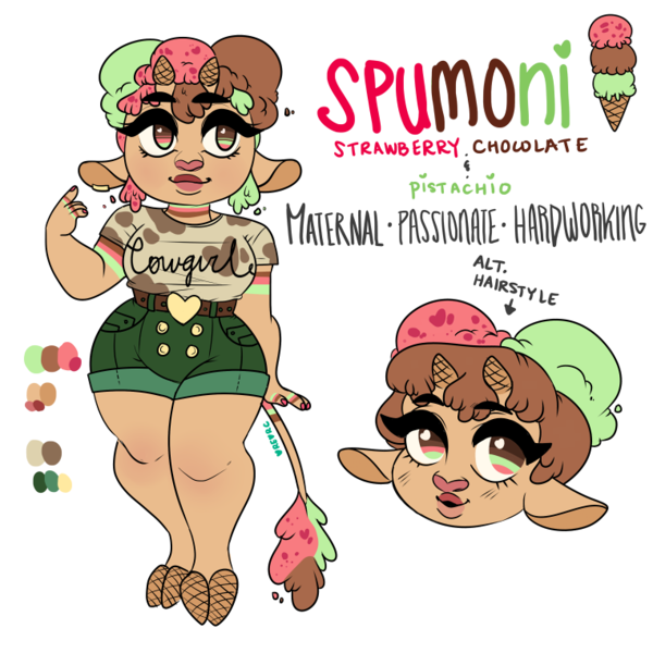 Cows clipart ice cream. Cow reference spumoni by